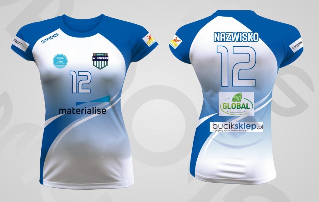 Koszulka siatkarska damska Vega Pro P2 Materialise Wrocław