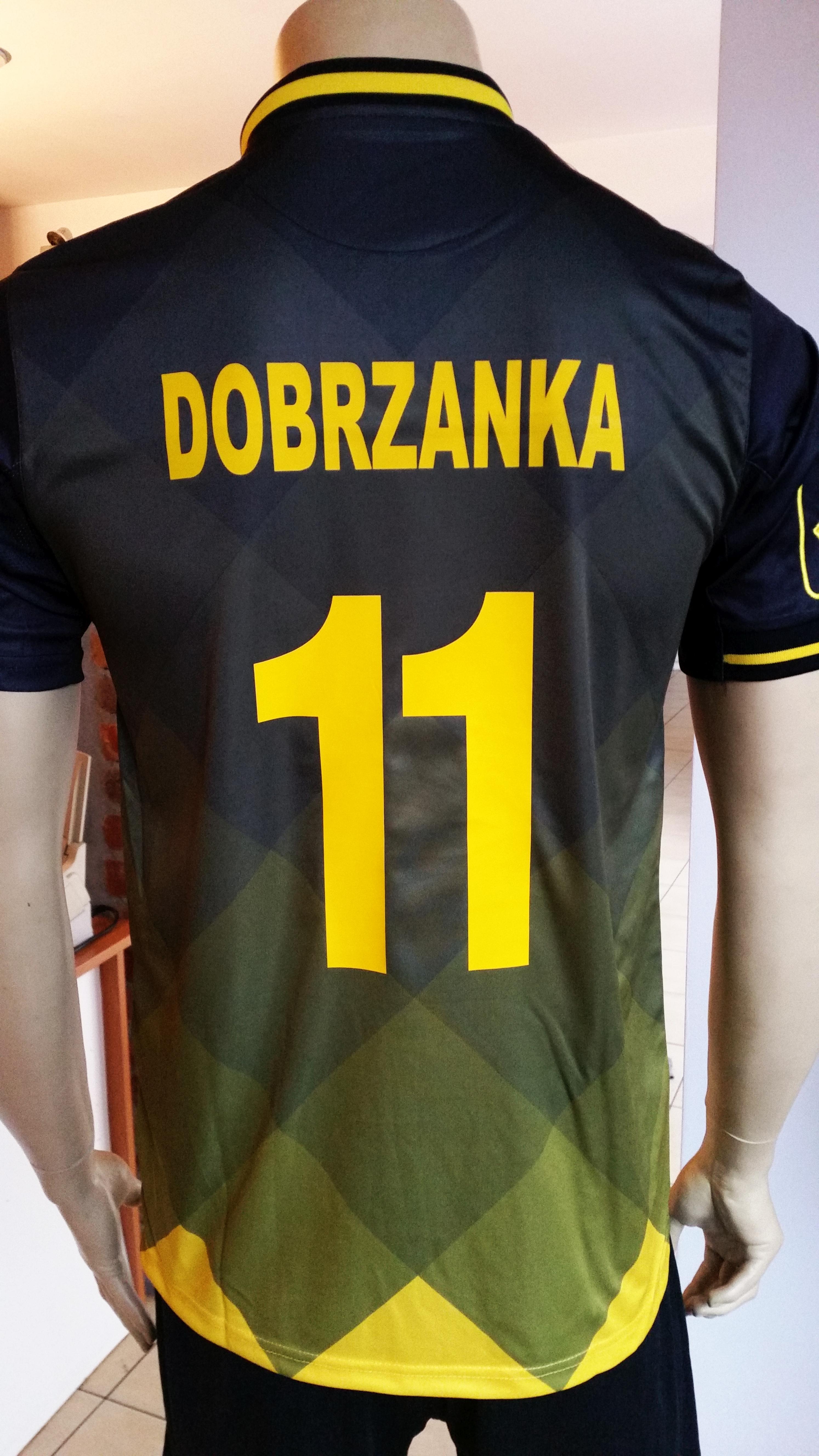 nadruk numer i napis flex żółty koszulka sportowa Givova