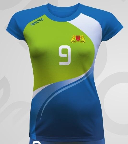 Koszulka siatkarska damska Vega Pro P2 z logiem