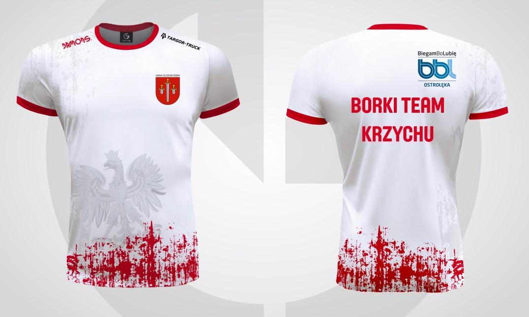 Koszulka biegowa Polska z logami i napisami
