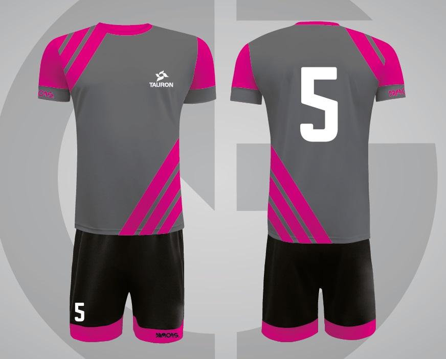 Stroje sportowe Player z logo i numerem TAURON