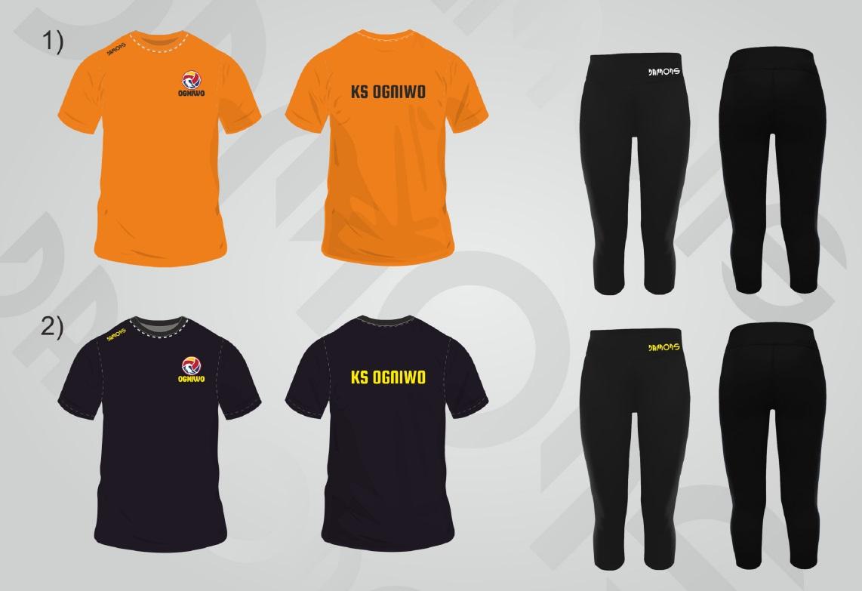 Stroje treningowe - koszulka i długie spodnie