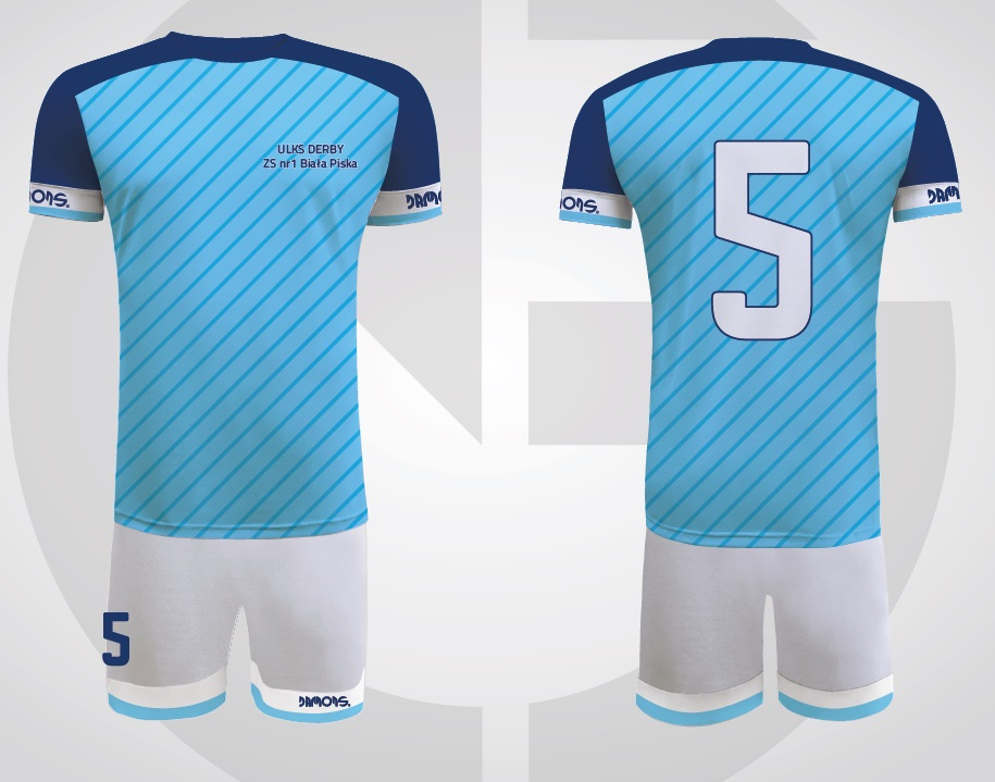 Stroje sportowe męskie Player niebiesko-biały ULKS Derby