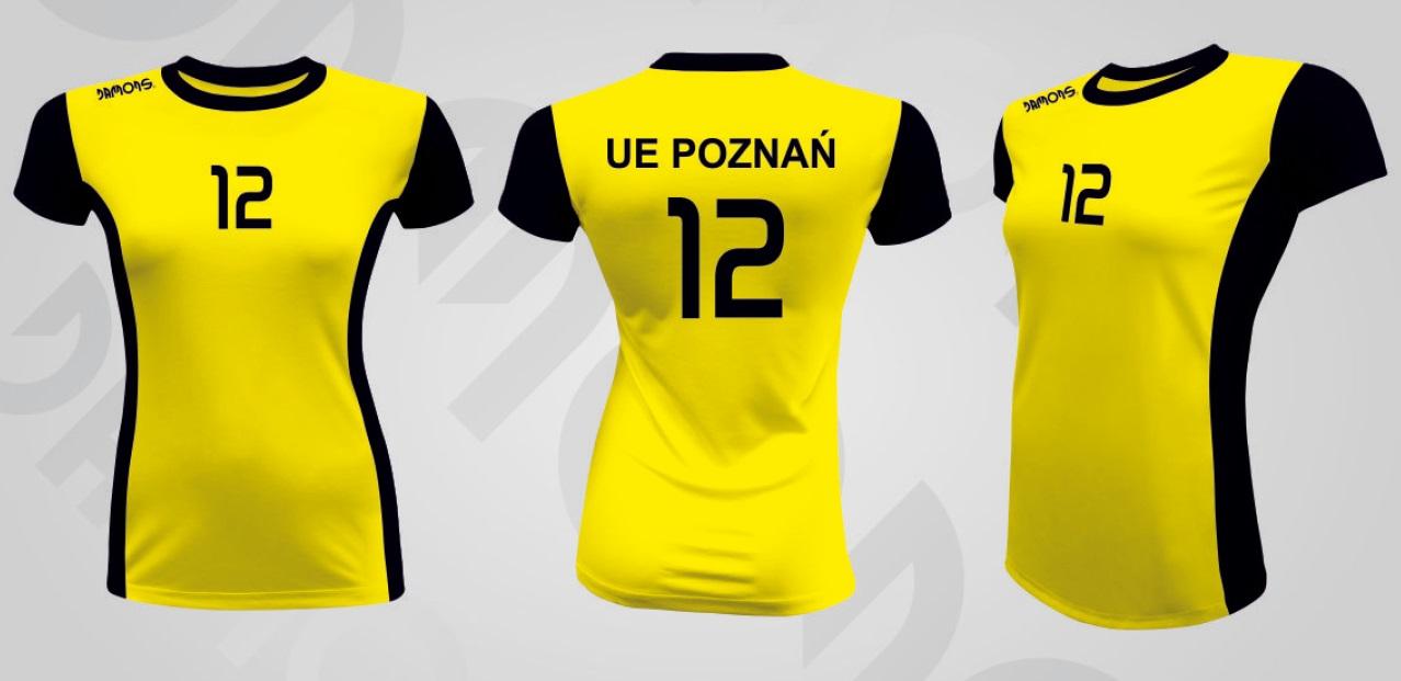 Koszulka siatkarska damska Eris żółto-czarny UE Poznań