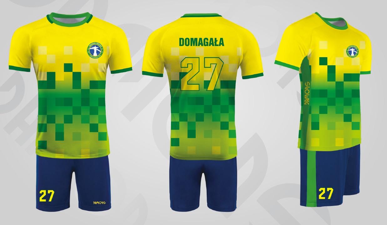 Stroje siatkarskie męskie Feniks zielono-żółty Rio