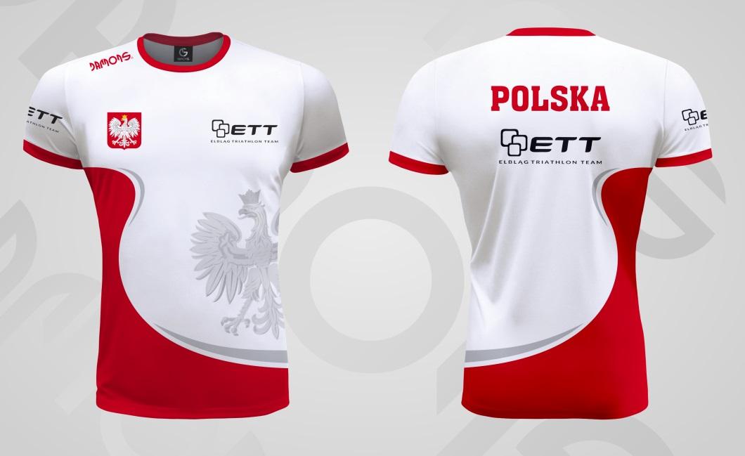 Koszulka sportowa biegowe ETT Elbląg