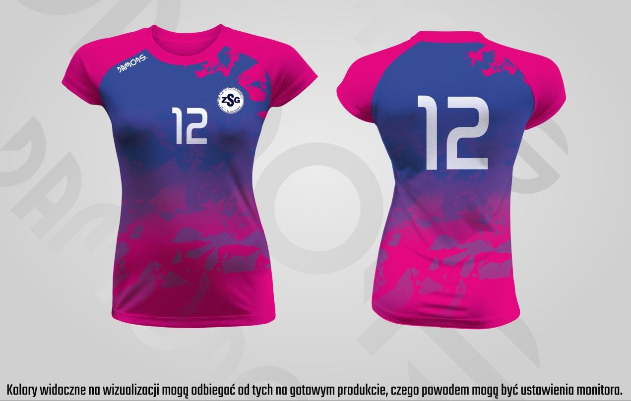 Koszulka siatkarska damska Vega Pro P3 różowo-niebieski Kraków