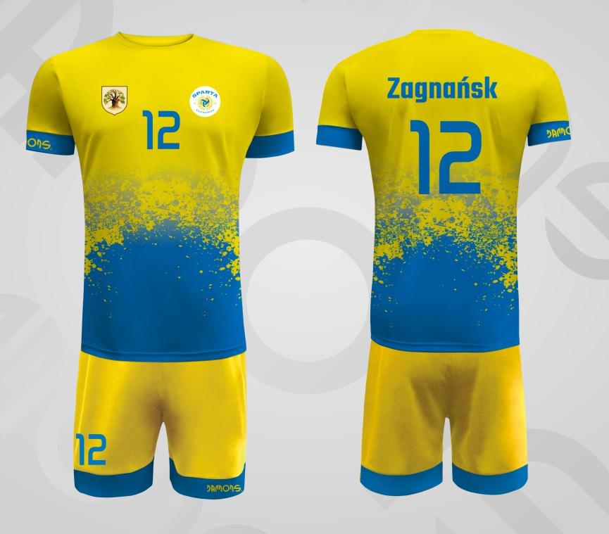Stroje siatkarskie męskie Max P1 niebiesko-żółty Zagnańsk